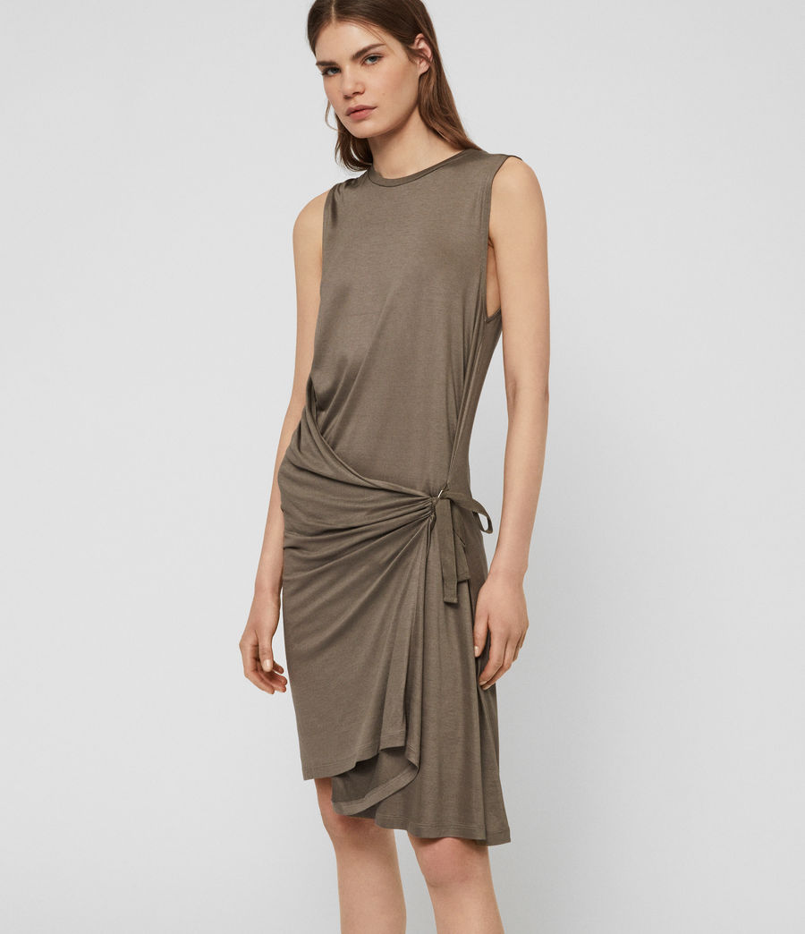 Womens Lisen Dress (khaki_green) - Image 1