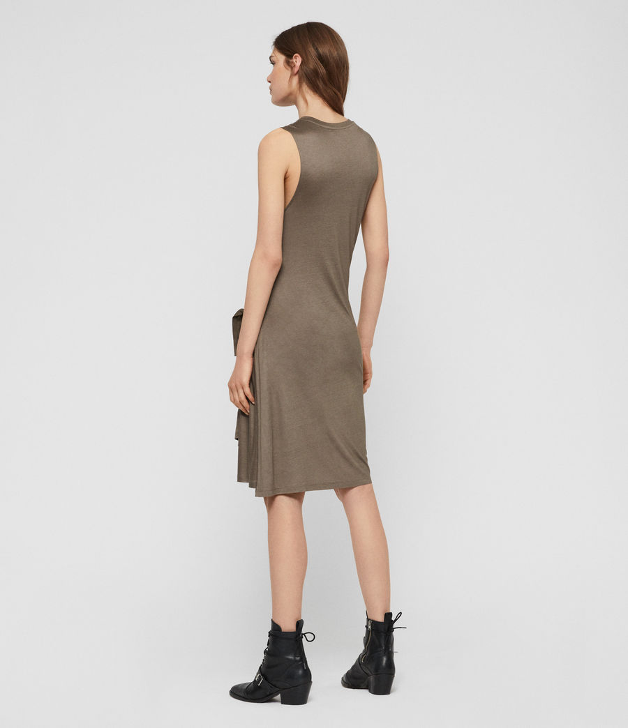 Womens Lisen Dress (khaki_green) - Image 5