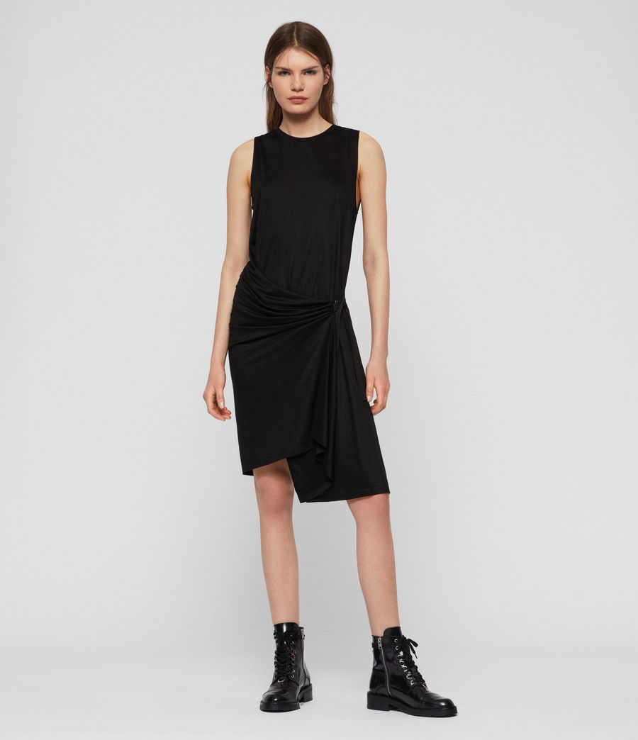 Womens Lisen Dress (black) - Image 2