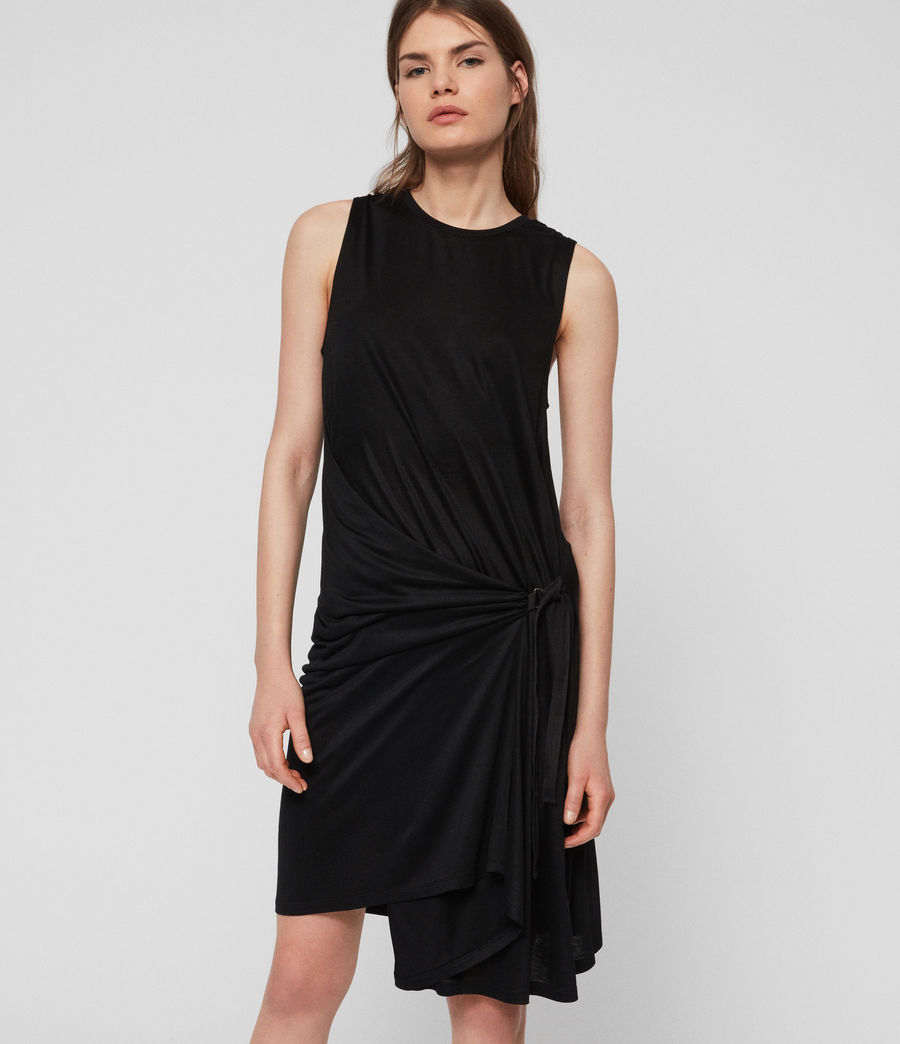 Womens Lisen Dress (black) - Image 3