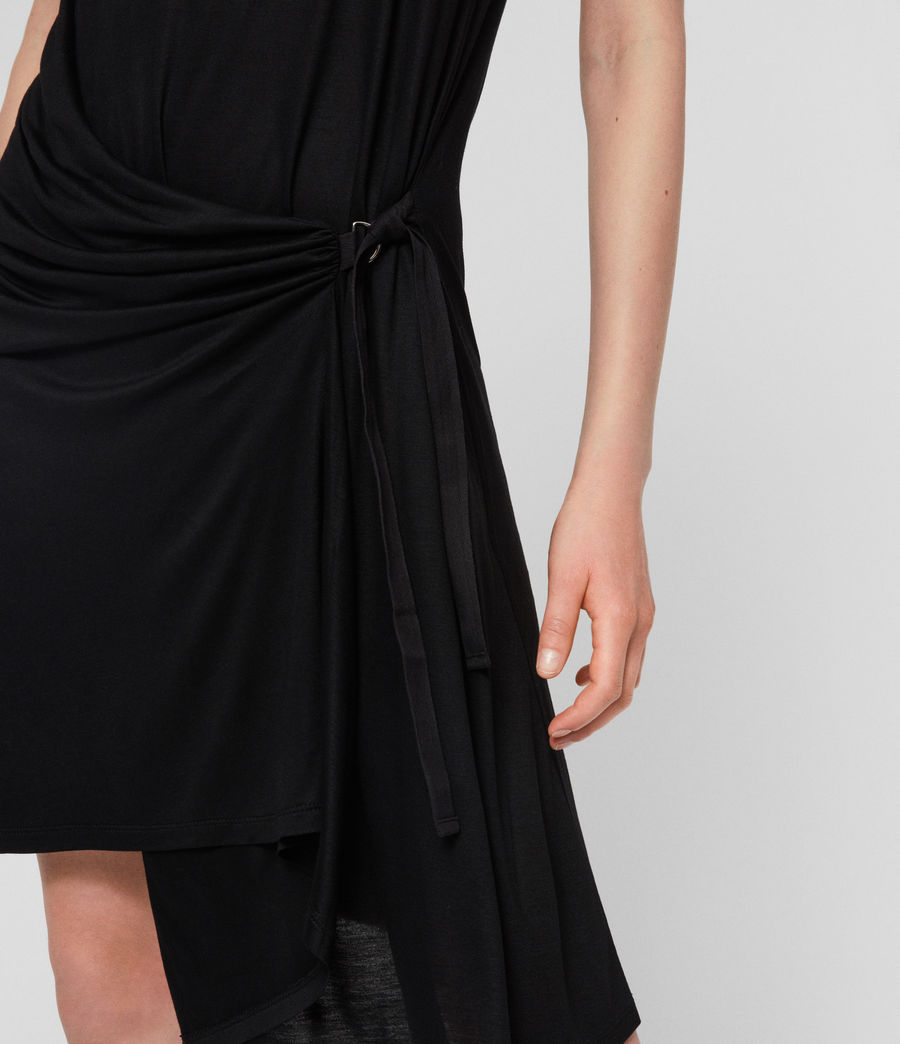 Womens Lisen Dress (black) - Image 4