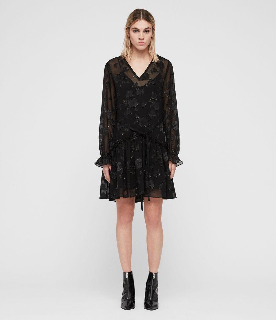 Women's Alia Flora Dress (black_gold) - Image 3