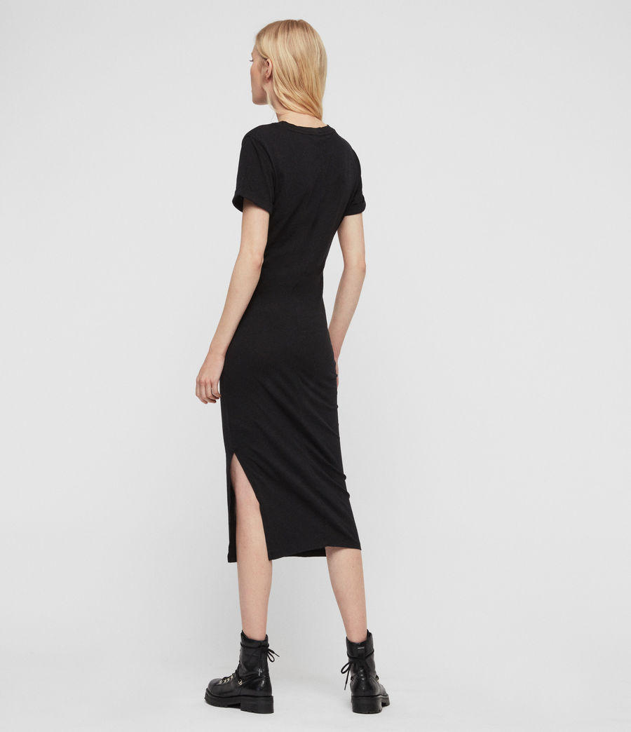 Women's Dina Slash Dress (black) - Image 4