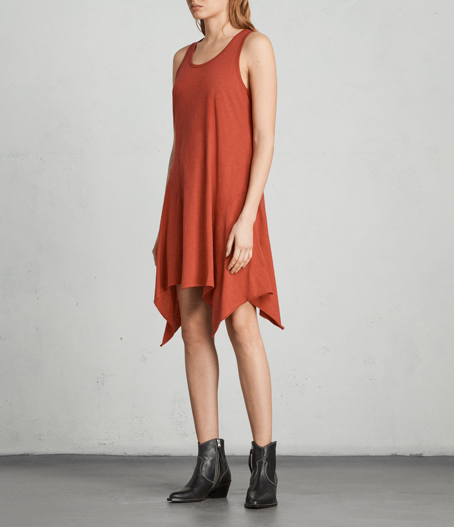 Womens Ella Fifi Dress (poppy_red) - Image 3