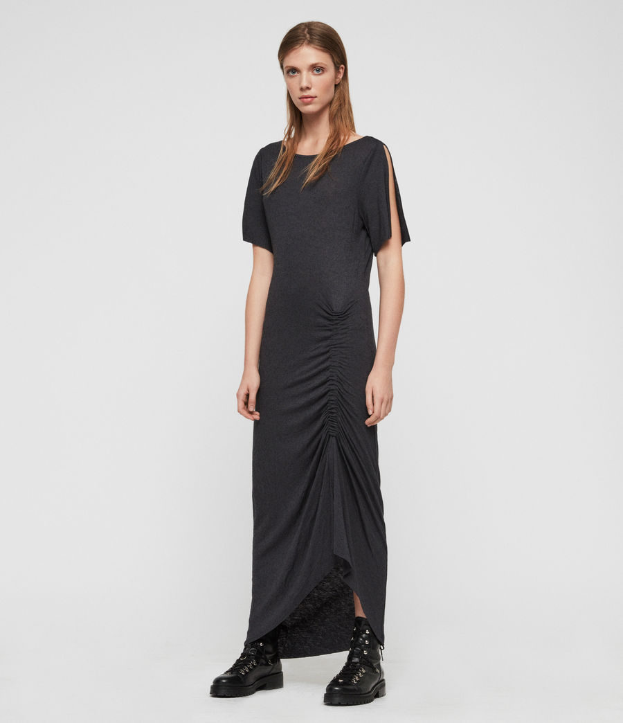 Femmes Robe Walla (washed_black) - Image 1