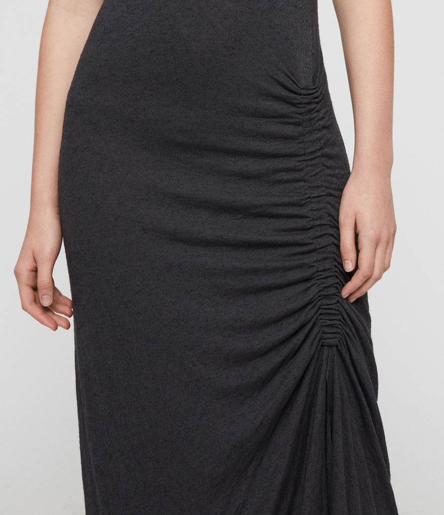 Women's Walla Dress (washed_black) - Image 3