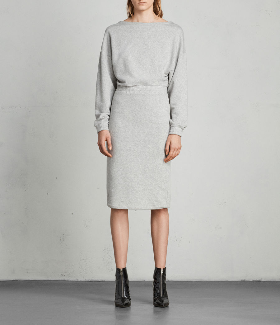 Women's Chrissy Sweat Dress (grey_marl) - Image 1