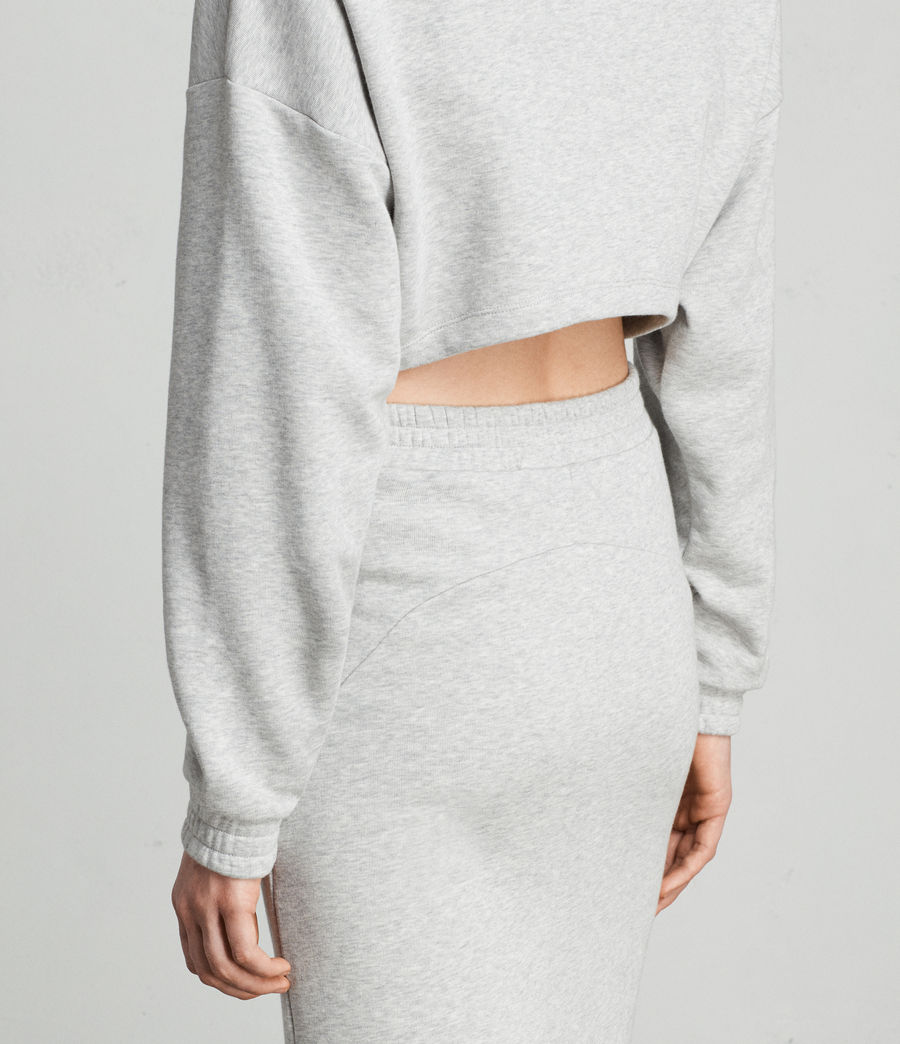 Femmes Robe Sweat Chrissy (grey_marl) - Image 2