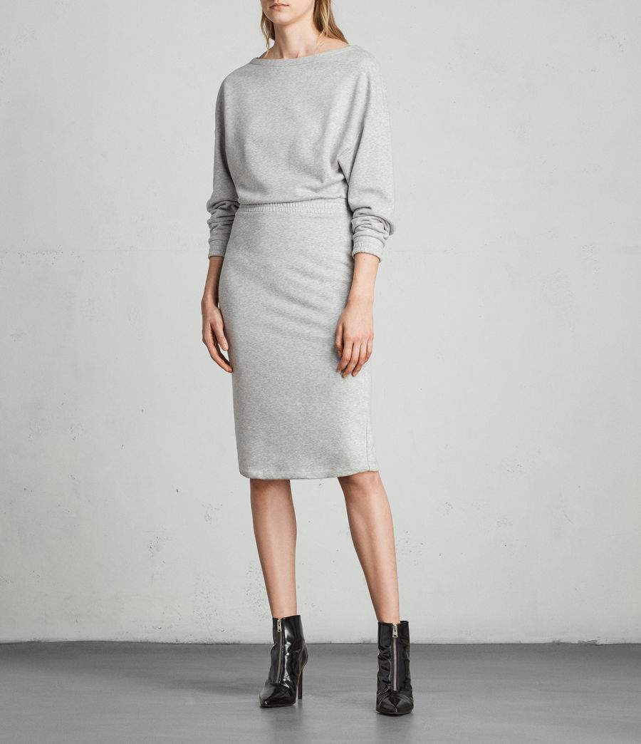 Women's Chrissy Sweat Dress (grey_marl) - Image 3