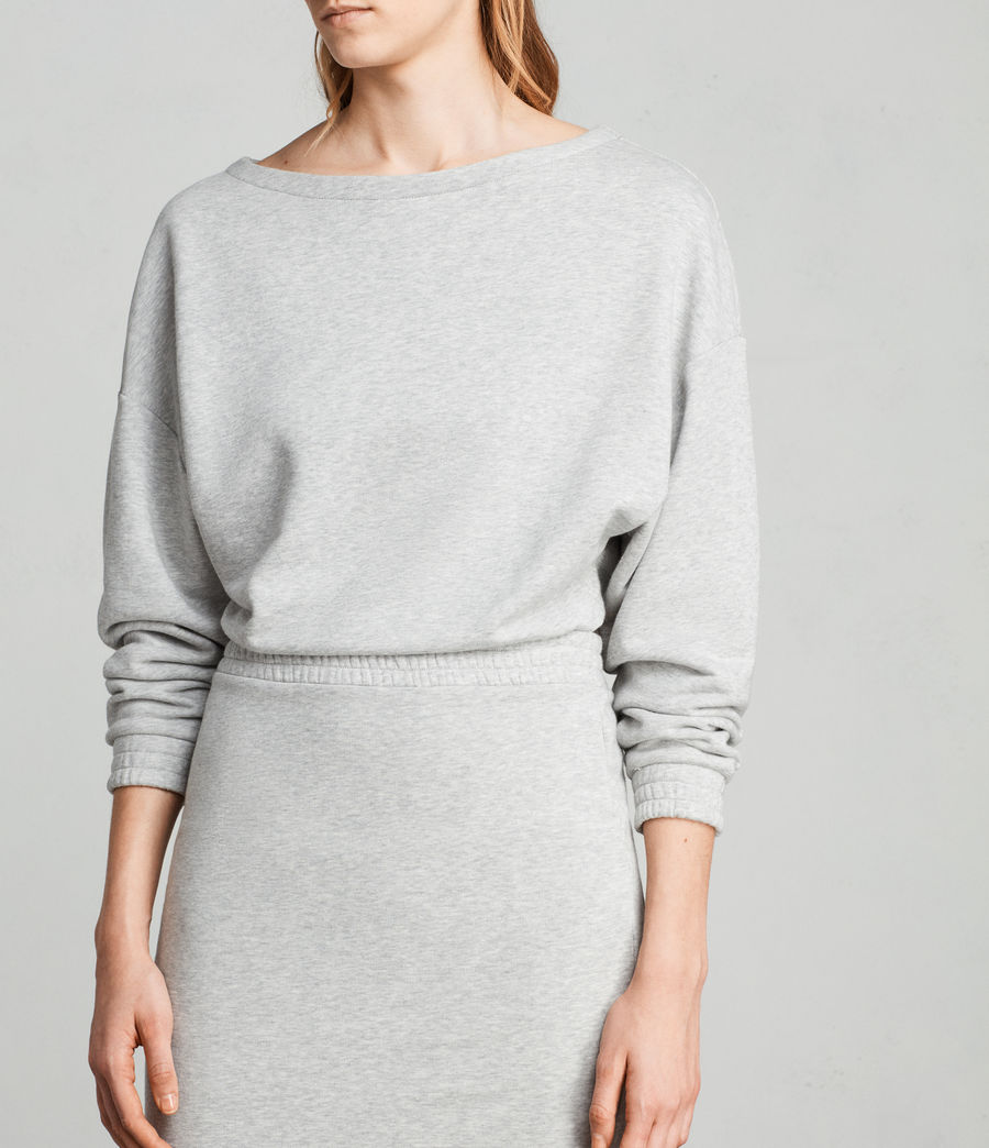 Femmes Robe Sweat Chrissy (grey_marl) - Image 4