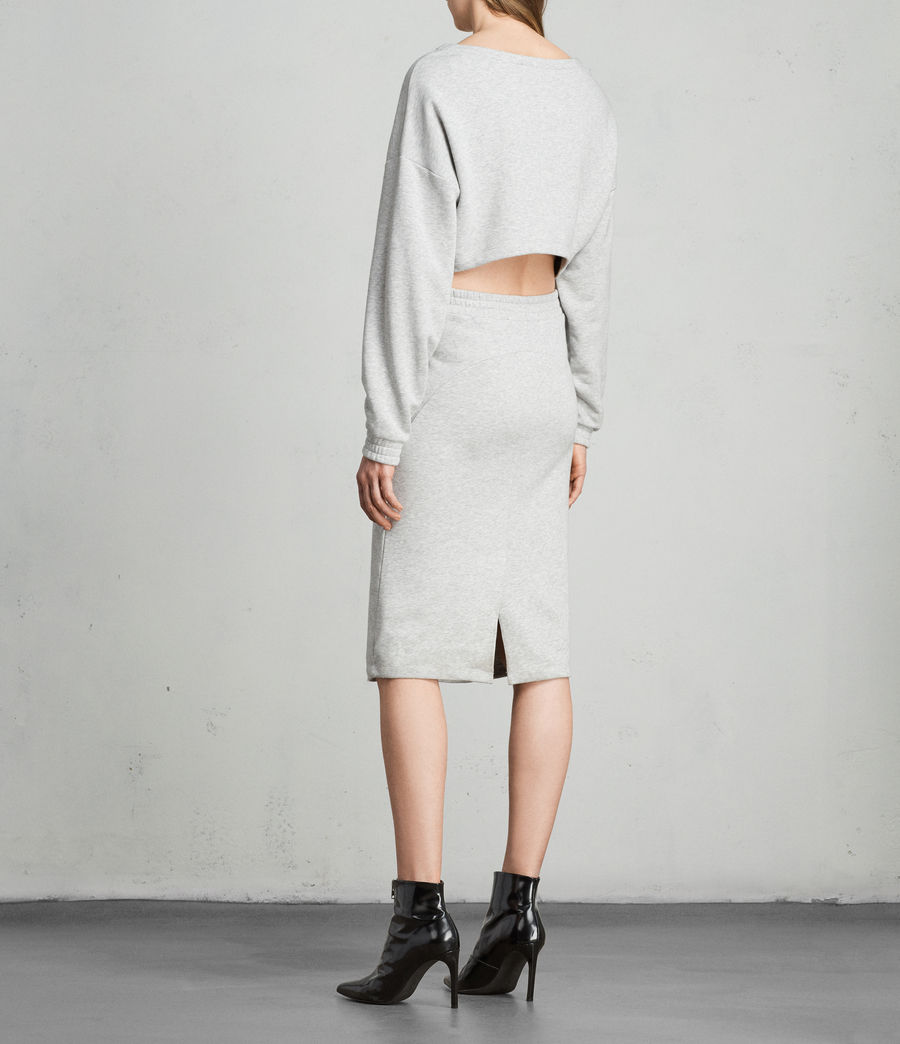 Femmes Robe Sweat Chrissy (grey_marl) - Image 5