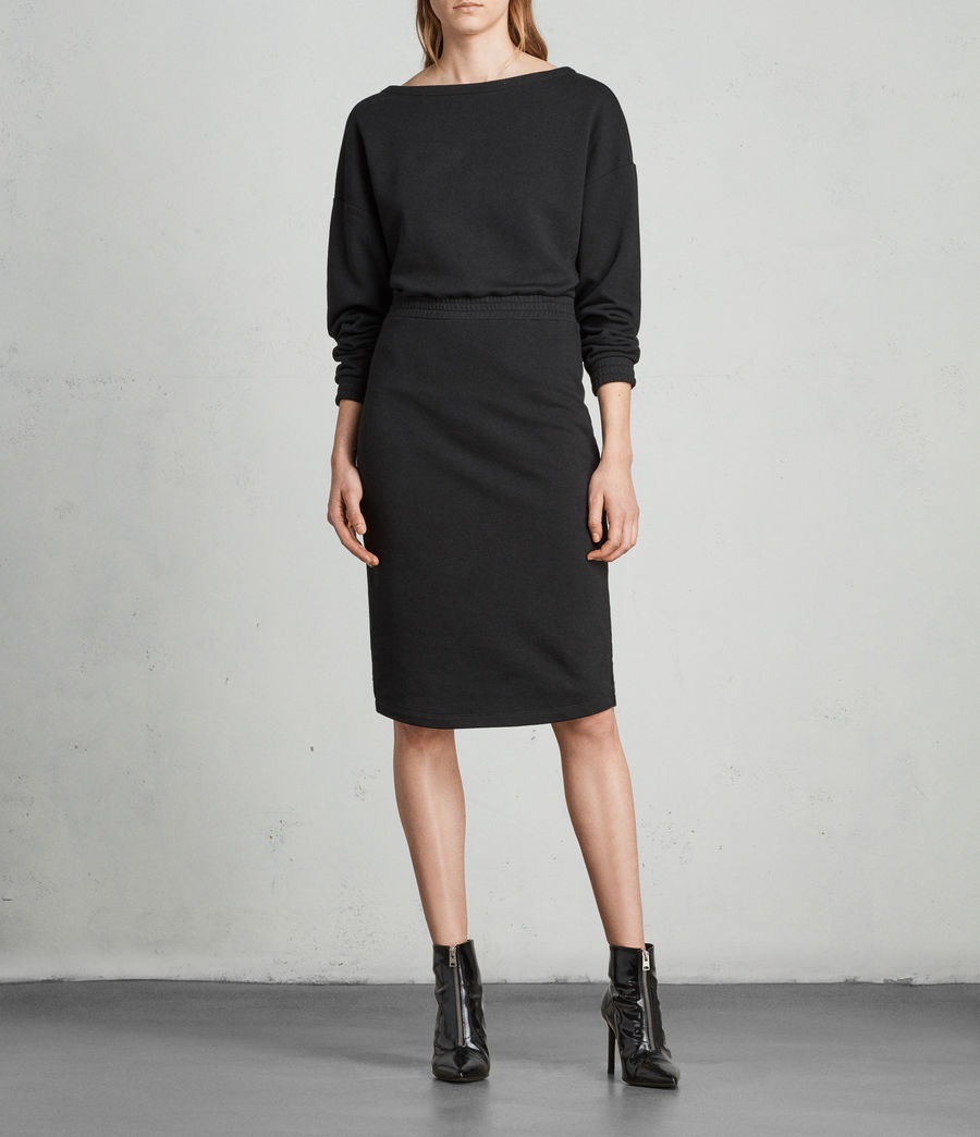 Womens Chrissy Sweat Dress (jet_black) - Image 1