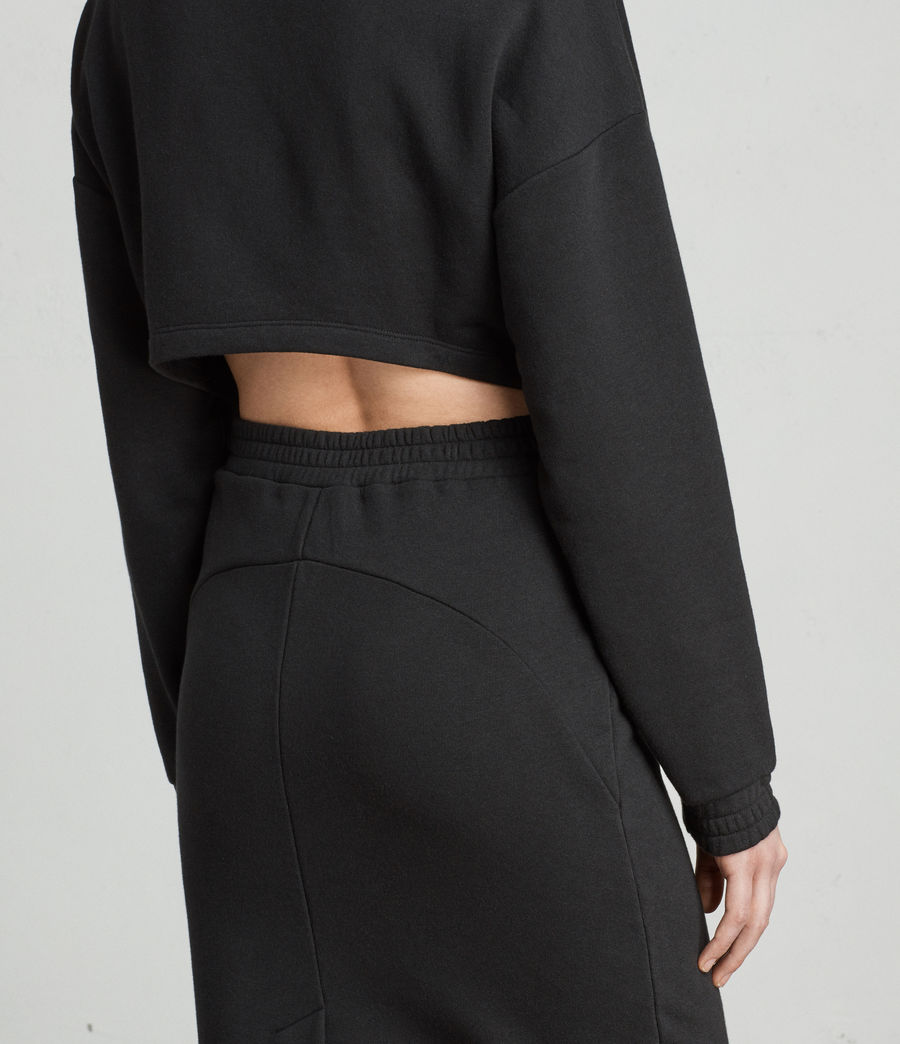 Womens Chrissy Sweat Dress (jet_black) - Image 2
