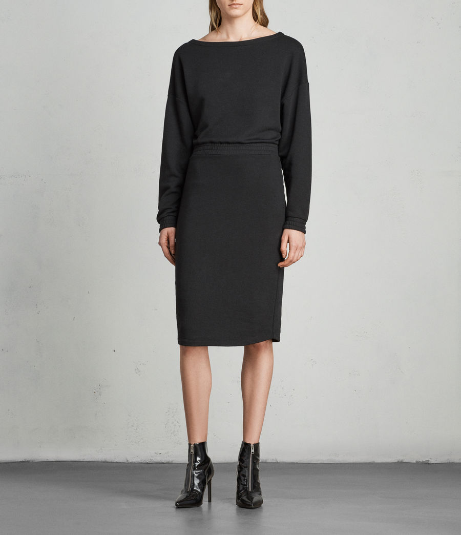 Womens Chrissy Sweat Dress (jet_black) - Image 3