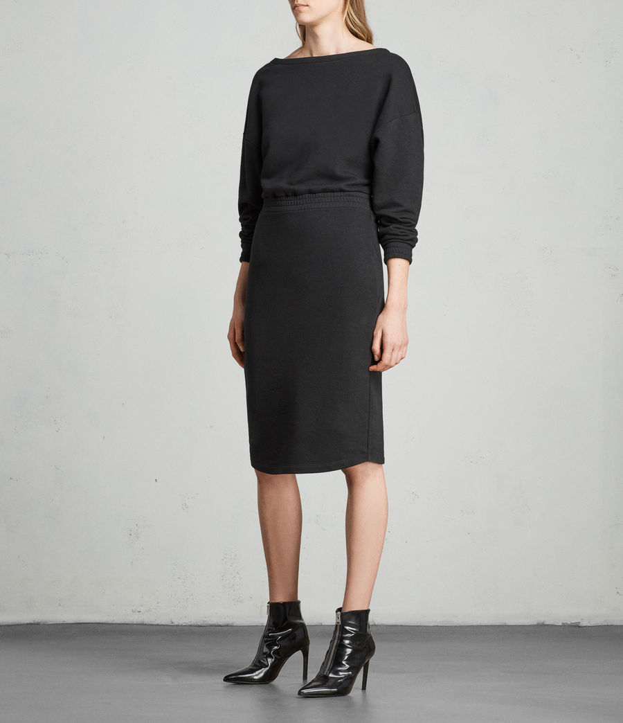 Womens Chrissy Sweat Dress (jet_black) - Image 4