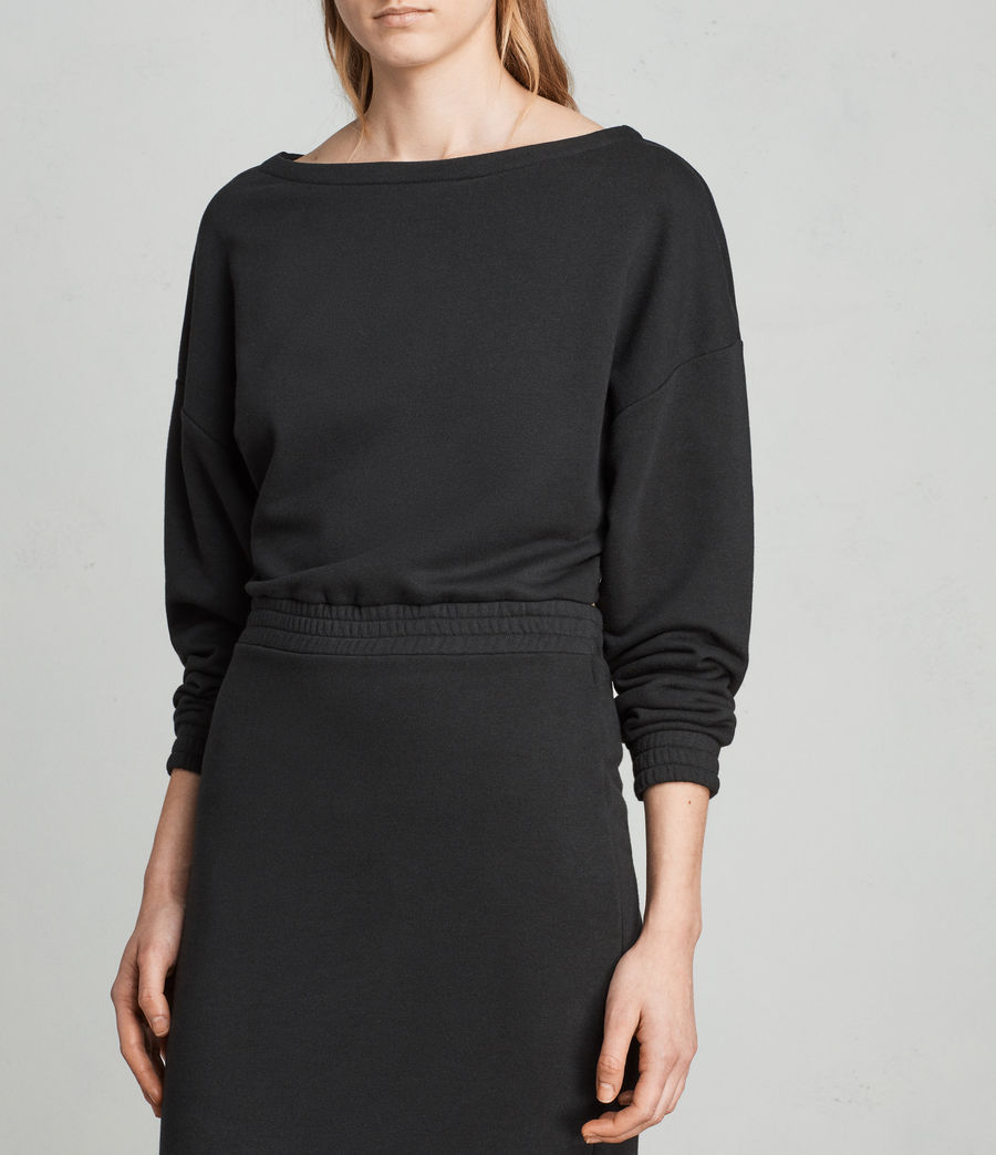Womens Chrissy Sweat Dress (jet_black) - Image 5