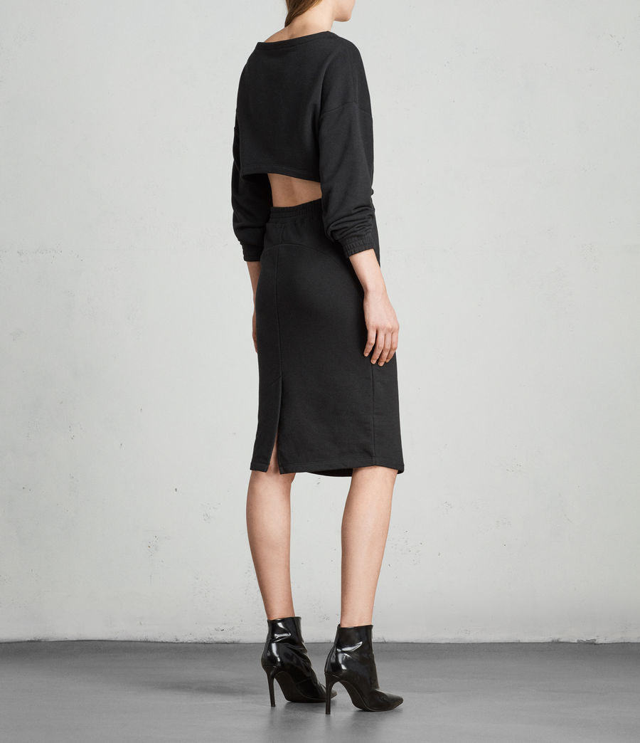 Womens Chrissy Sweat Dress (jet_black) - Image 6