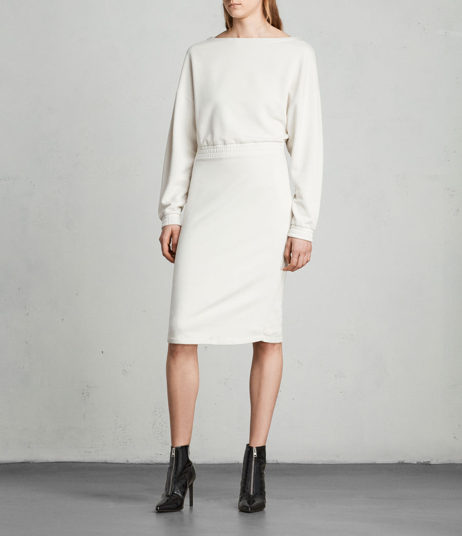 Womens Chrissy Sweat Dress (ivory_white) - Image 1
