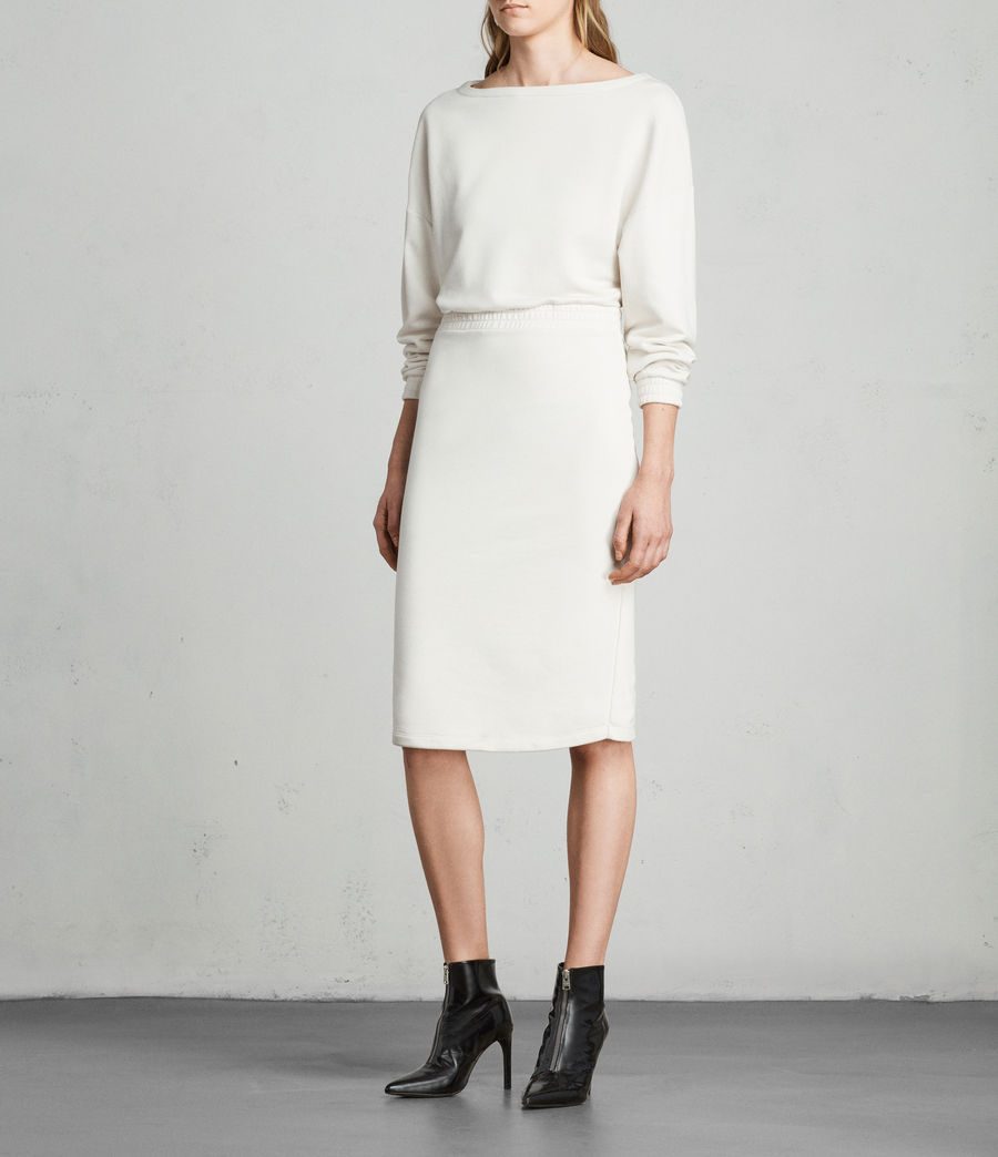 Womens Chrissy Sweat Dress (ivory_white) - Image 3