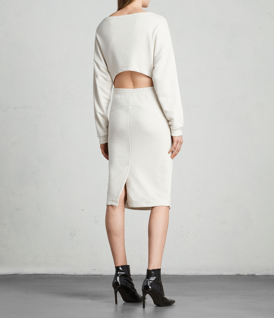 Women's Chrissy Sweat Dress (ivory_white) - Image 4