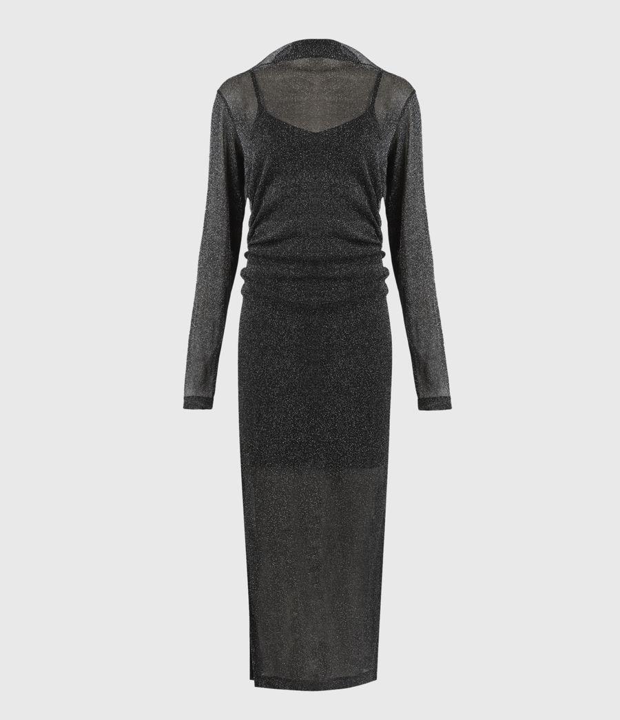 Femmes Robe Métallisée Francesco (black) - Image 2