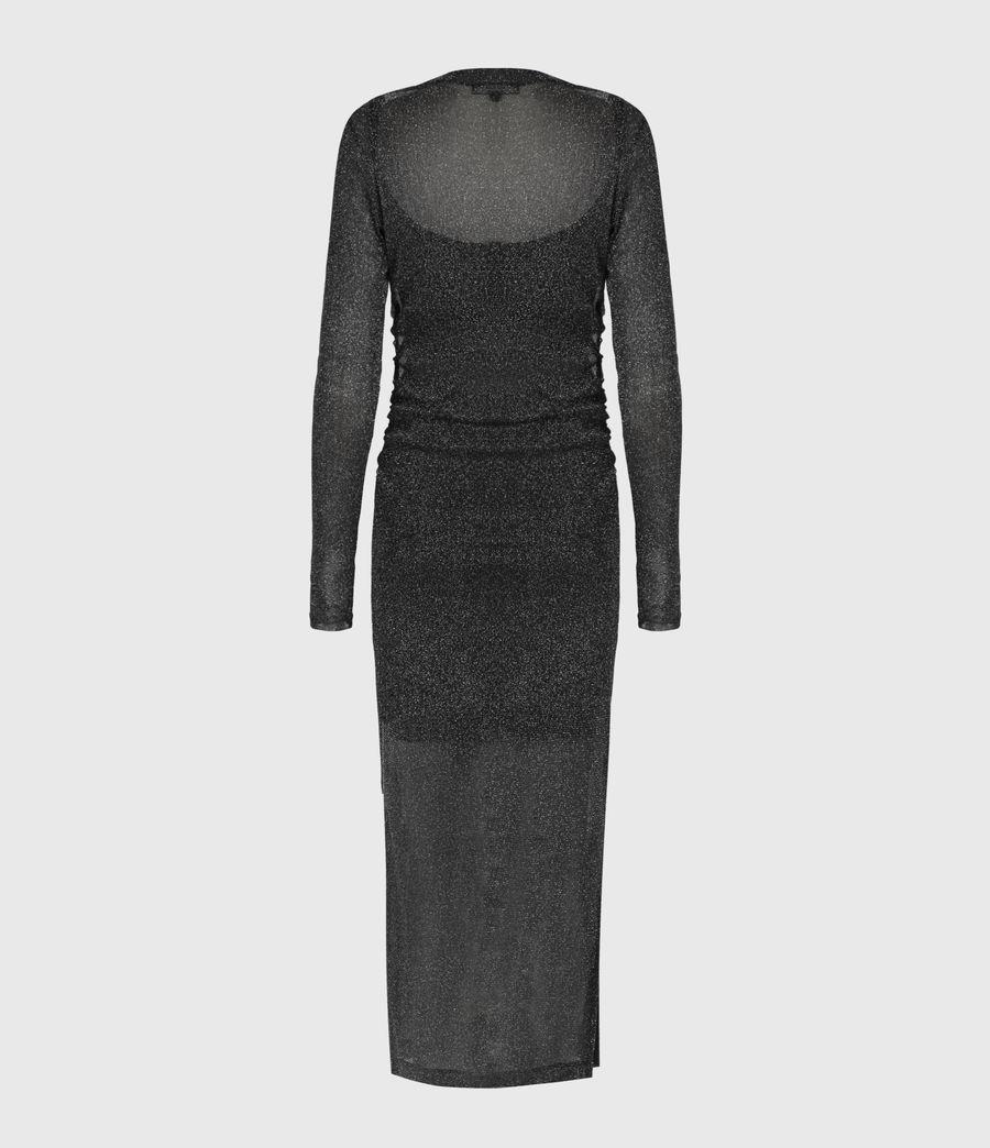 Femmes Robe Métallisée Francesco (black) - Image 3