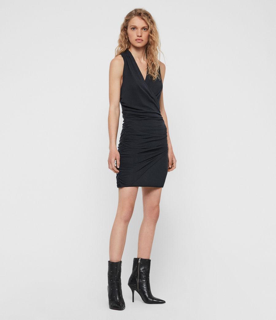Womens Nirman Dress (black) - Image 2