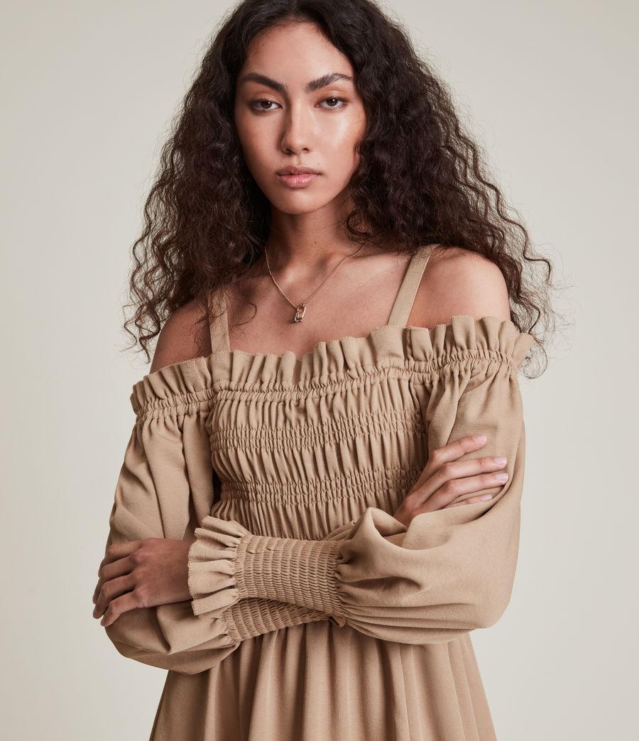 Womens Lary Dress (sand_brown) - Image 2