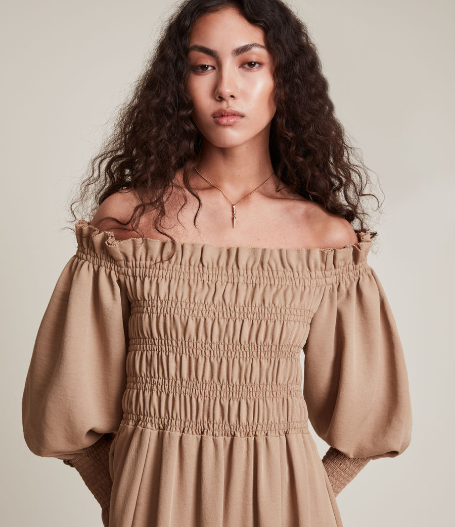 Womens Lary Dress (sand_brown) - Image 4