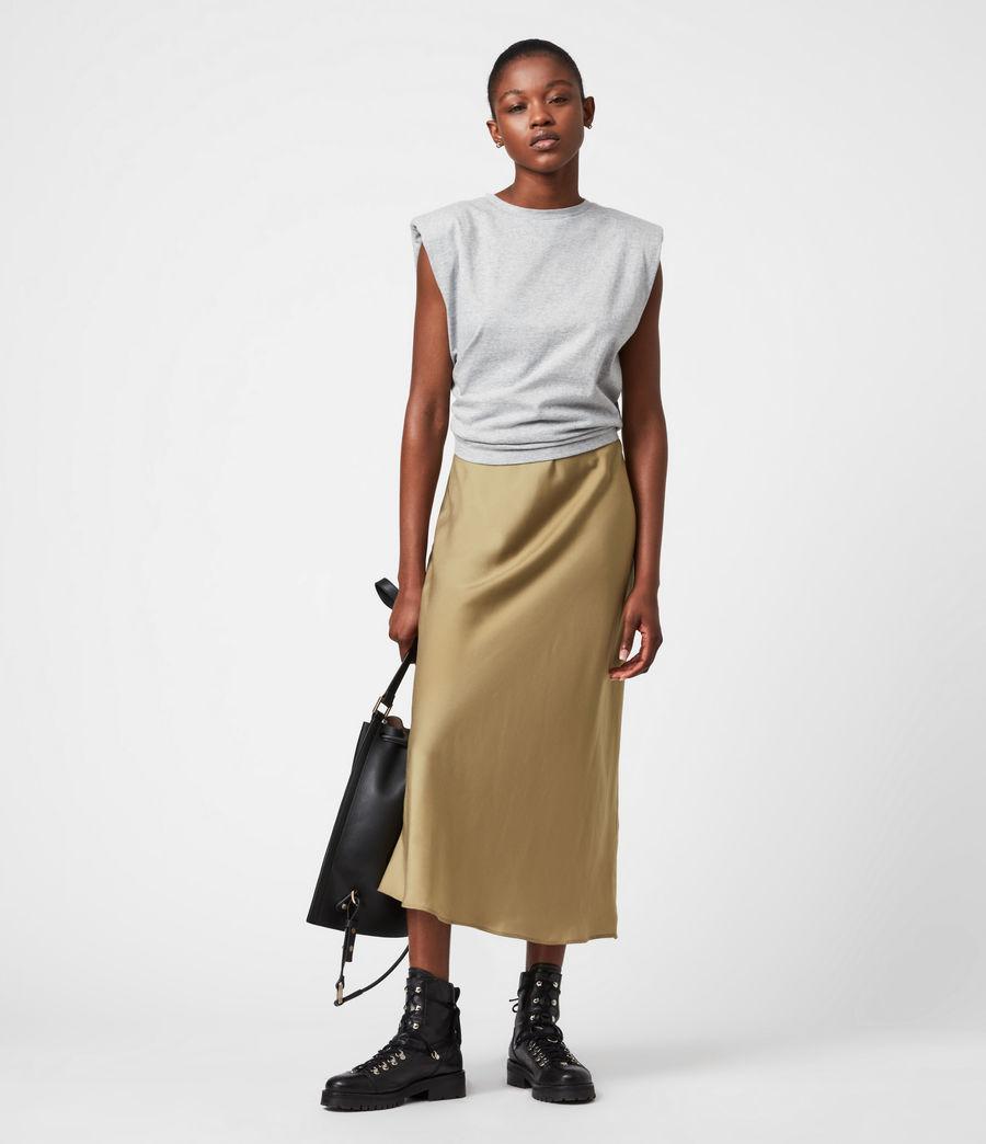Damen Tierny 2-In-1 Coni Kleid (metallic_green) - Image 1