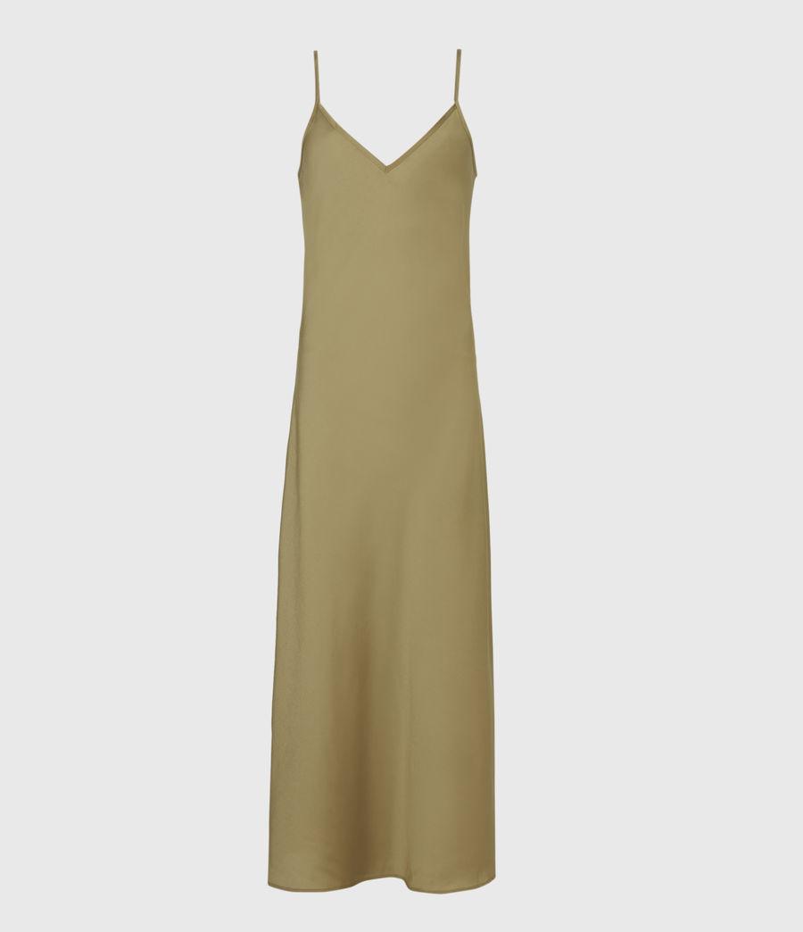 Damen Tierny 2-In-1 Coni Kleid (metallic_green) - Image 2