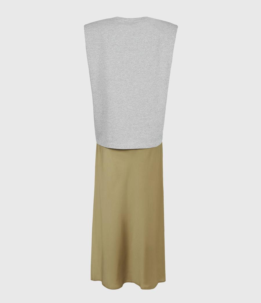 Damen Tierny 2-In-1 Coni Kleid (metallic_green) - Image 3