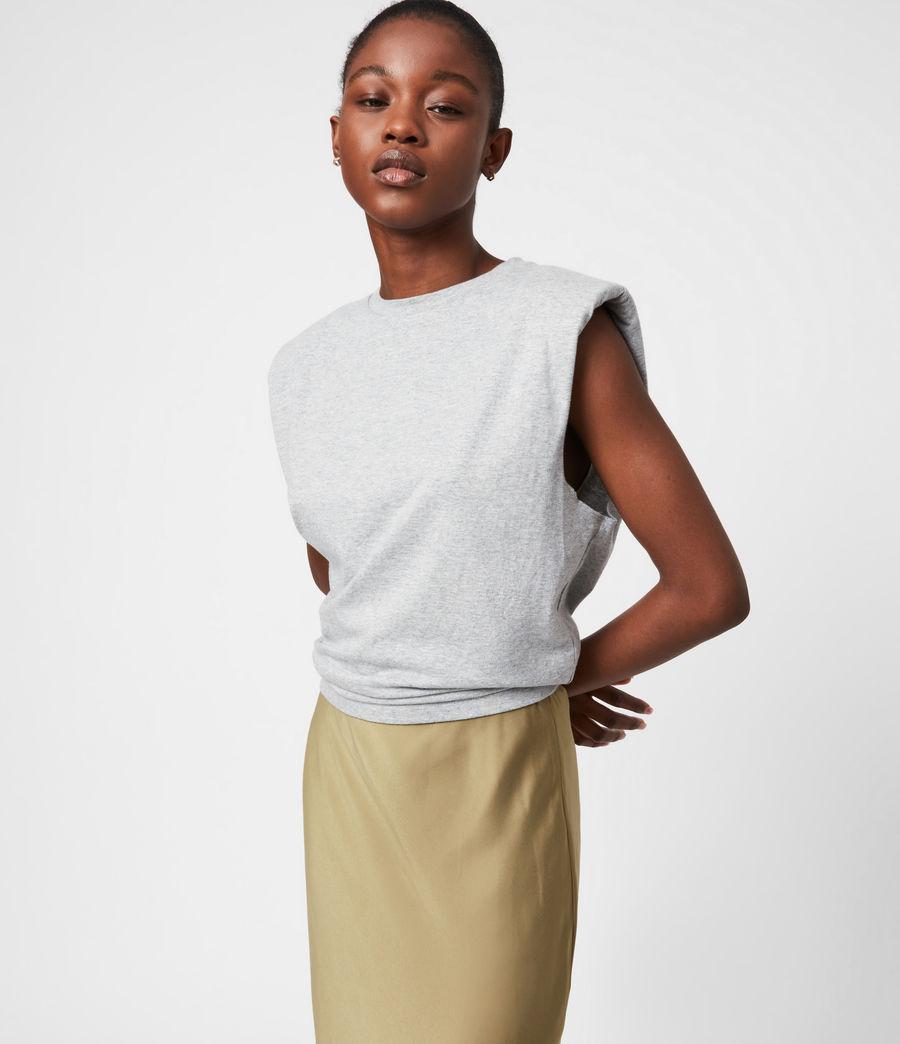 Damen Tierny 2-In-1 Coni Kleid (metallic_green) - Image 4