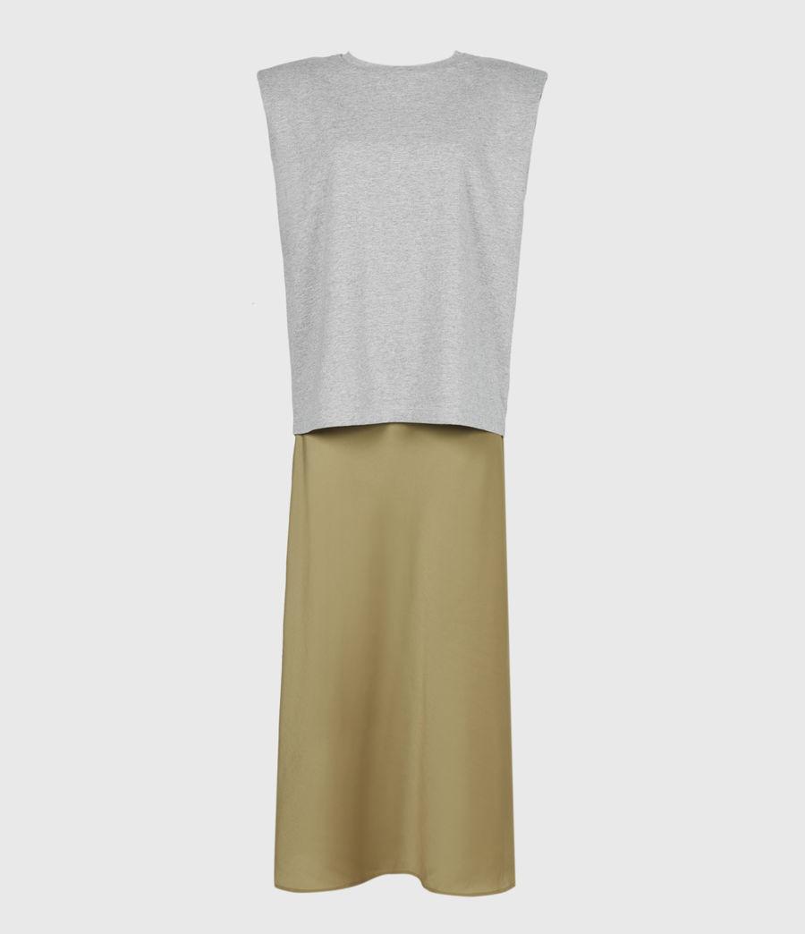 Damen Tierny 2-In-1 Coni Kleid (metallic_green) - Image 5