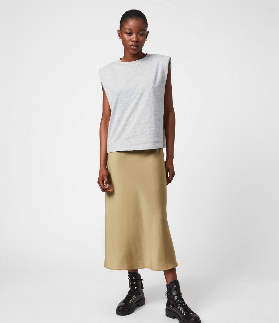 Damen Tierny 2-In-1 Coni Kleid (metallic_green) - Image 8