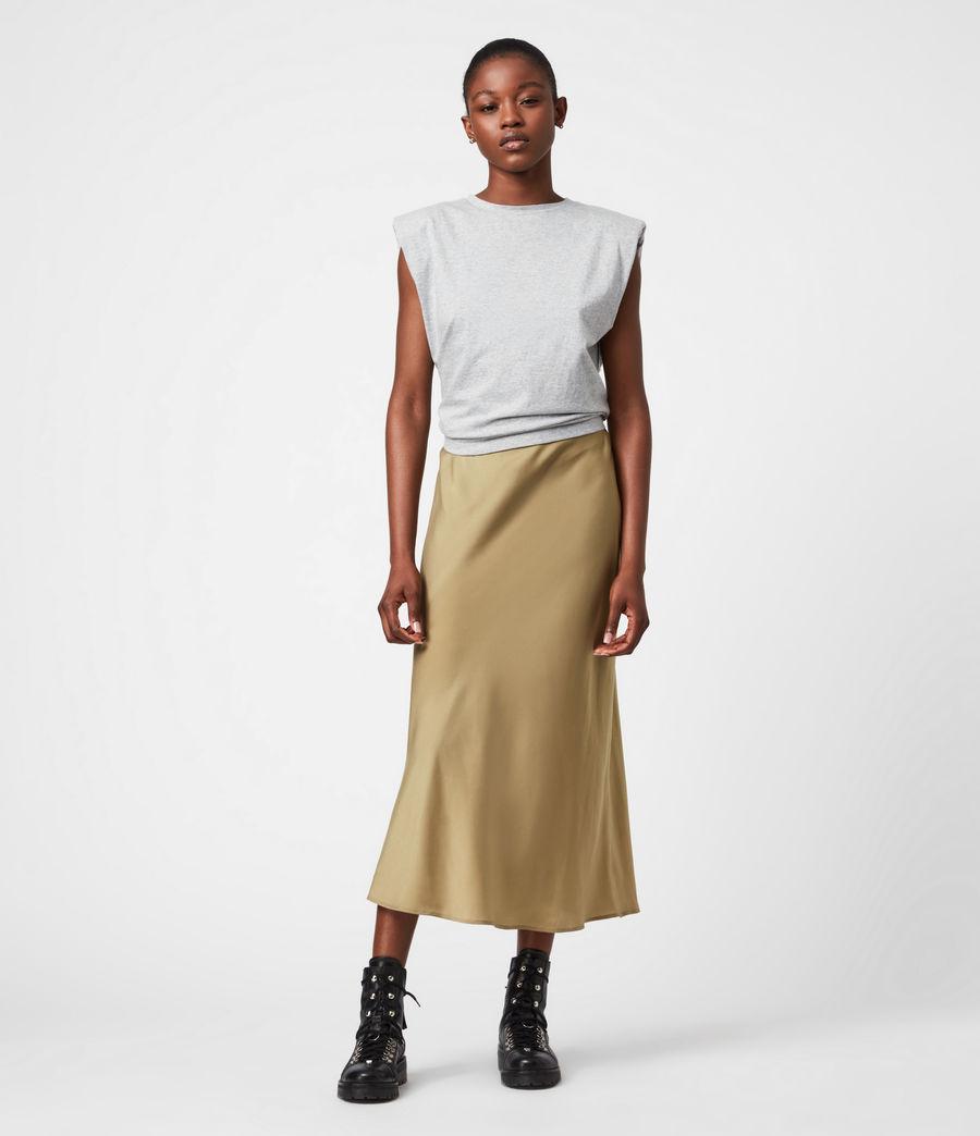 Damen Tierny 2-In-1 Coni Kleid (metallic_green) - Image 9