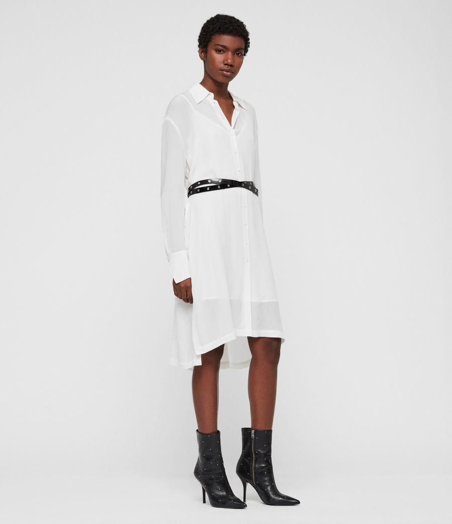 Women's Anya Shirt Dress (chalk_white) - Image 1