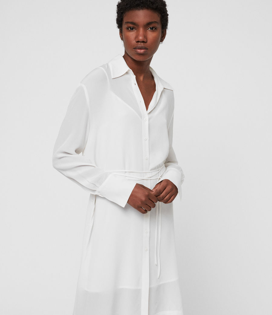 Women's Anya Shirt Dress (chalk_white) - Image 2