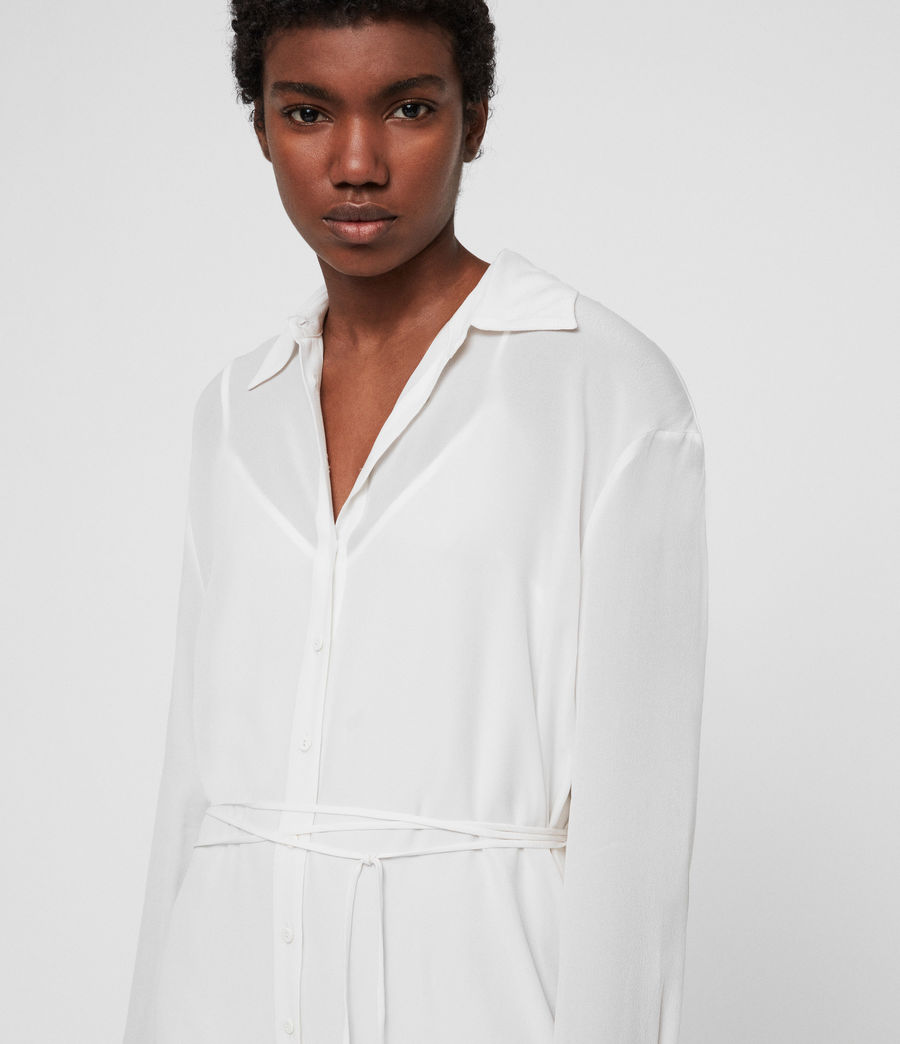 Women's Anya Shirt Dress (chalk_white) - Image 3