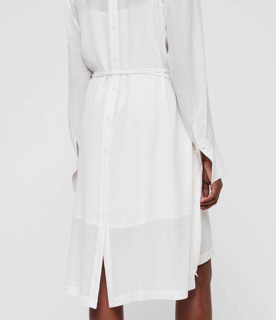 Women's Anya Shirt Dress (chalk_white) - Image 5