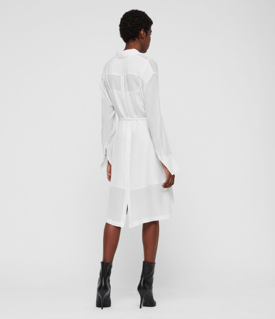 Women's Anya Shirt Dress (chalk_white) - Image 6