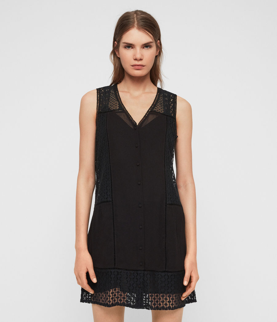 Womens Manie Lace Dress (black) - Image 1