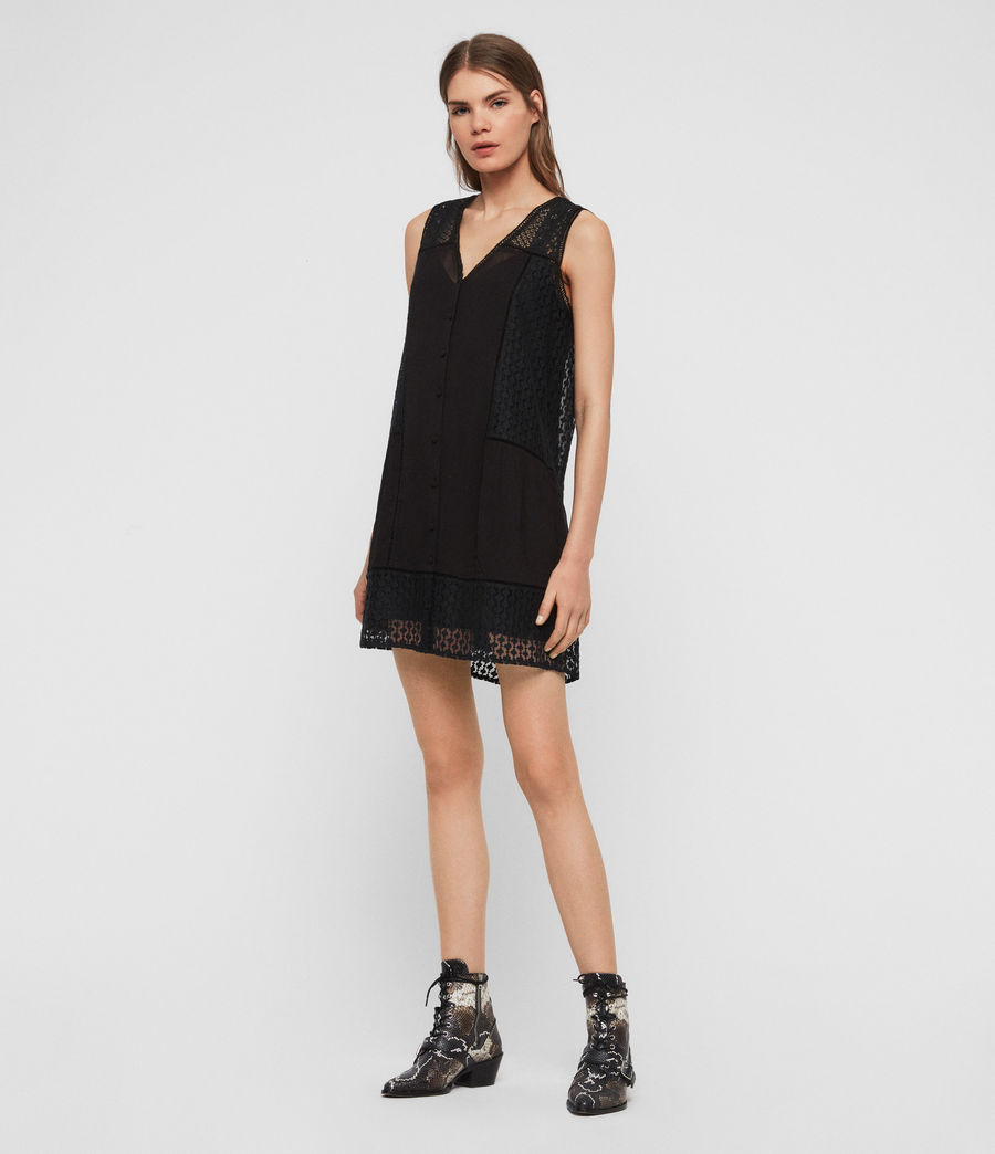 Womens Manie Lace Dress (black) - Image 2