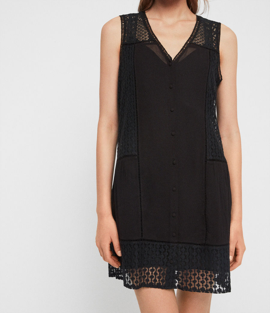 Womens Manie Lace Dress (black) - Image 4