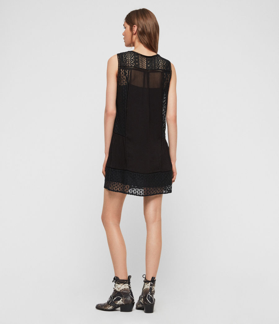 Womens Manie Lace Dress (black) - Image 5