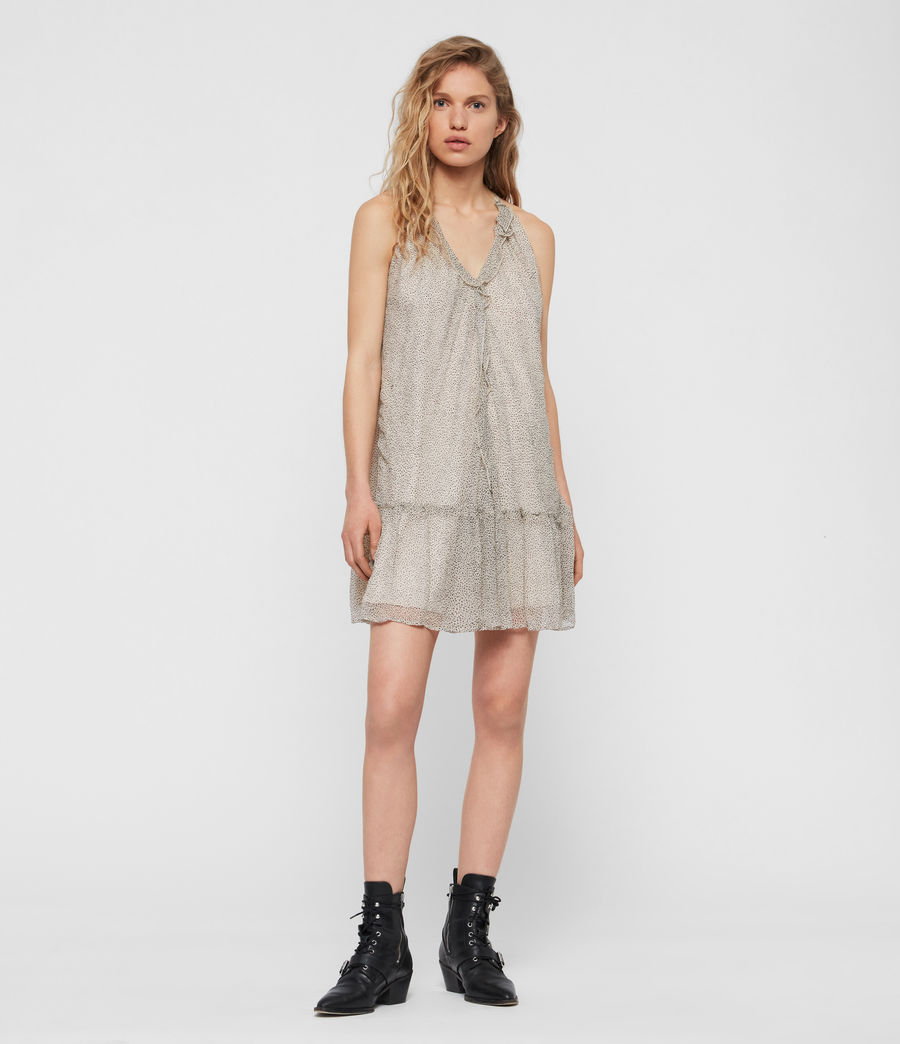 Women's Maisie Speckle Dress (oyster_white) - Image 1