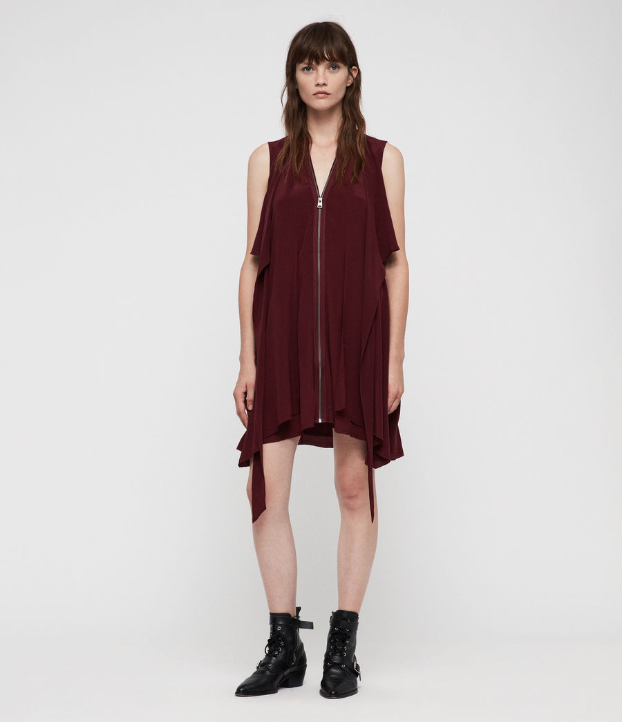 Womens Jayda Dress (bordeaux_red) - Image 1