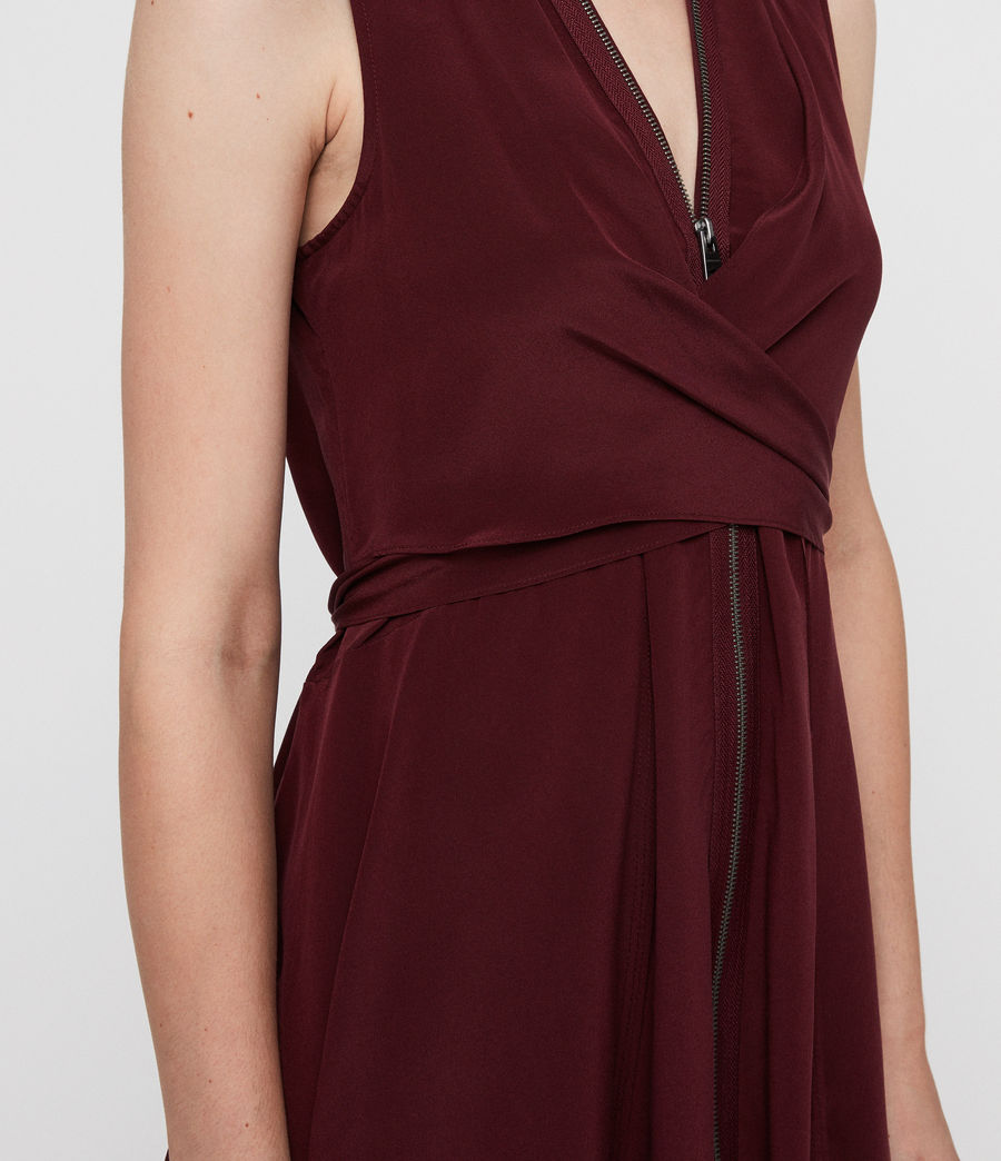 Womens Jayda Dress (bordeaux_red) - Image 2