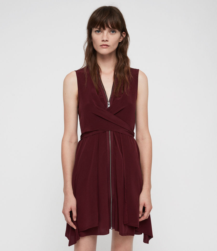 Womens Jayda Dress (bordeaux_red) - Image 3