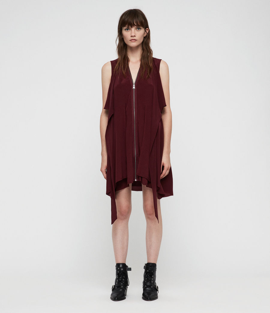 Womens Jayda Dress (bordeaux_red) - Image 4